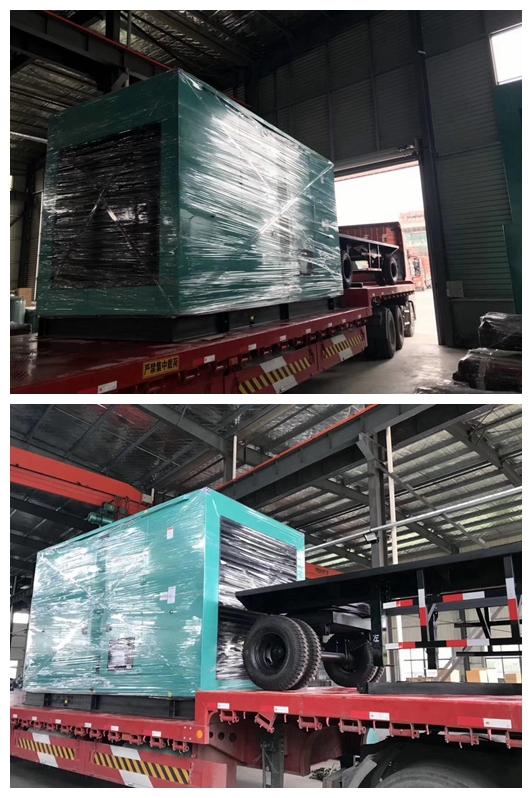 发货篇-四川成都市成华区中国银行在我司订购的一台静音型柴油发电机组按时出厂发货!