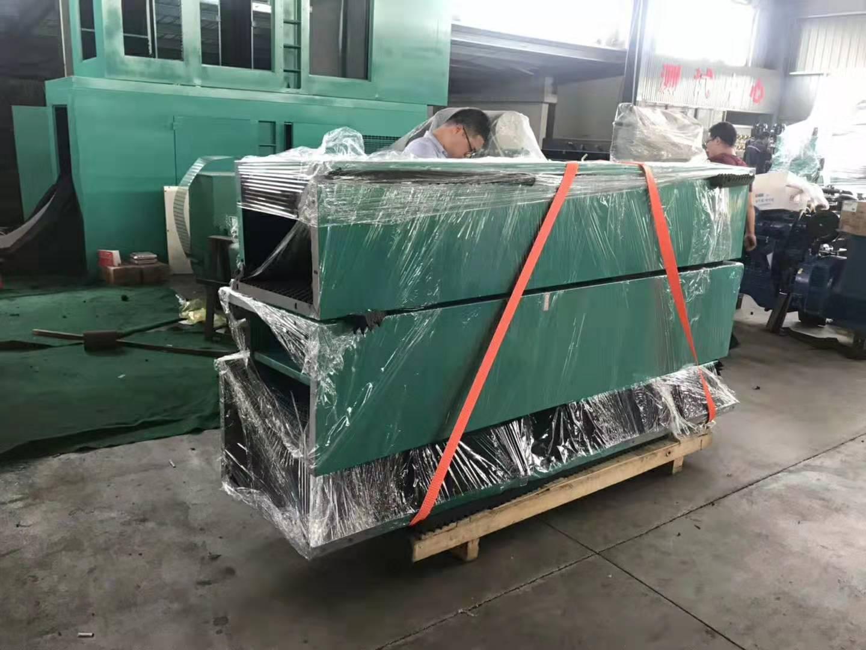 800千瓦的拼装箱体式柴油机组现场组装