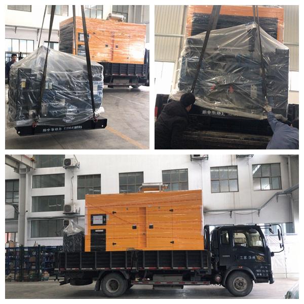 2台小功率50KW玉柴柴发机组已装车,安排出货