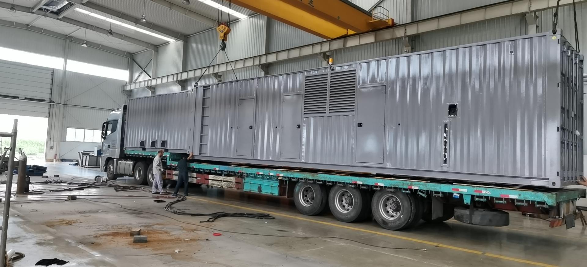 1200KW玉柴集装箱式柴油发电机组现场完美交付
